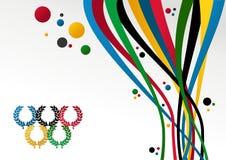 Olympics van Londen de achtergrond van Spelen 2012 Stock Foto