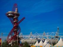 Olympics van Londen Spelen 2012 Arcelor Mittal Tower Stock Afbeeldingen