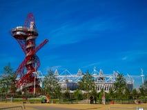 Olympics van Londen Spelen 2012 Arcelor Mittal Tower Royalty-vrije Stock Foto's