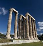 Olympieion废墟在雅典 免版税库存照片