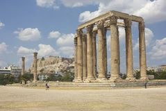 Olympieion in Athens, Greece Royalty Free Stock Image