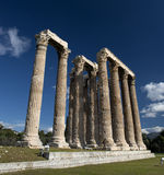 Olympieion ruins in athens. Royalty Free Stock Photo