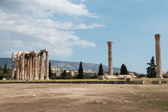 Olympieion - Temple of Olympian Zeus Stock Photography