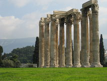 Olympieion - Temple of Zeus. According to tradition, the establishment of the sanctuary goes back to the time of mythical Deucalion. The site was inhabited in Stock Photos