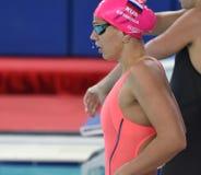 Olympier und Welt verfechten Schwimmer Yulia YEFIMOVA RUS Lizenzfreie Stockfotografie