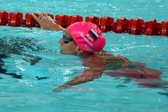 Olympier und Welt verfechten Schwimmer Yulia YEFIMOVA RUS Stockbilder