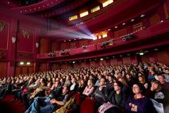 Olympion戏院的第55塞萨罗尼基国际影片竞赛 库存照片