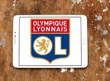 Olympique Λυών, Olympique Lyonnais, λογότυπο λεσχών ποδοσφαίρου Στοκ εικόνες με δικαίωμα ελεύθερης χρήσης