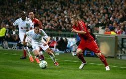 Olympique de Marseille contre Bavière Munchen Image stock