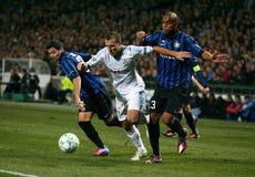 Olympique de Marseille contre Milan inter Image stock