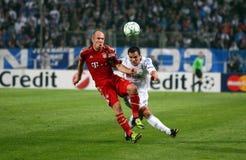Olympique De Marseille gegen Bayern Munchen Lizenzfreies Stockfoto