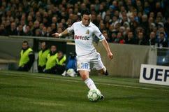 Olympique de Marseille's Mathieu Valbuena Stock Image