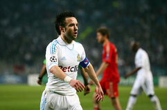 Olympique de Marseille's Mathieu Valbuena Stock Photography