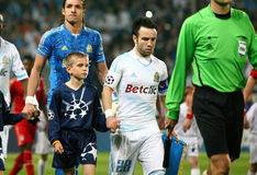 Olympique de Marseille's Mathieu Valbuena Stock Images