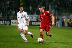 Olympique DE Marseille versus Beieren Munchen royalty-vrije stock afbeeldingen