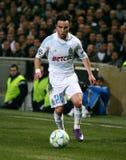 Olympique De Marseilles Mathieu Valbuena Lizenzfreies Stockfoto