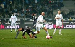 Olympique De Marseilles Morgan Amalfitano Lizenzfreie Stockbilder