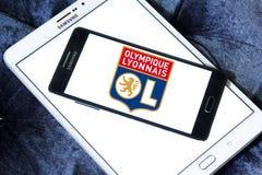 Olympique Lione, Olympique Lyonnais, logo del club di calcio Fotografia Stock Libera da Diritti