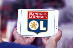 Olympique Lyon, Olympique Lyonnais, football club logo. Logo of french football club  Olympique Lyon, Olympique Lyonnais, on samsung tablet Royalty Free Stock Photos