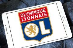Olympique Lyon, Olympique Lyonnais, football club logo. Logo of french football club  Olympique Lyon, Olympique Lyonnais, on samsung tablet Stock Photos