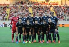 Olympique Lyonnais line up Royalty Free Stock Image