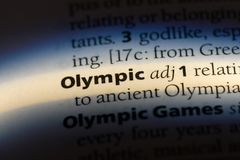olympisch stockfotos