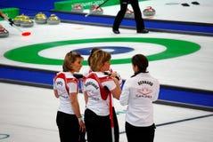 Olympisch, 2010 kräuselnd stockfotografie