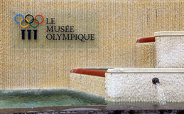 Olympisch museum in Lausanne, Zwitserland Stock Fotografie
