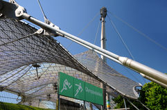 Olympisch Stadion München - ondersteunend het dak Royalty-vrije Stock Foto