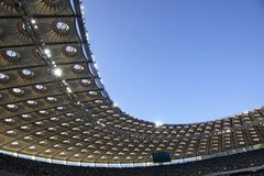Olympisch stadion (NSC Olimpiysky) in Kyiv Stock Foto's