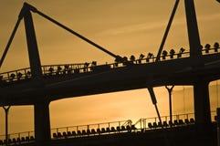 Olympisch Stadion tijdens de zonsondergang in Turijn Stock Fotografie