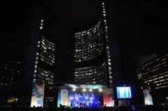 Olympisch toortsrelais in Toronto Stock Foto's