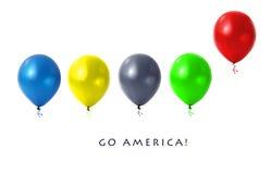 Olympische Ballone Stockfoto