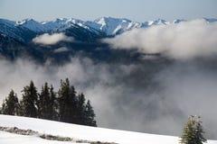 Olympische Bergketen Stock Afbeeldingen