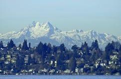 Olympische Bergketen royalty-vrije stock afbeeldingen