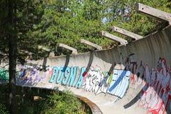 1984 olympische Bob-Ruinen II, Sarajevo, Bosnien Stockfotos