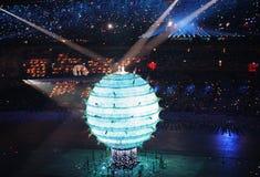 Olympische ceremonie stock foto
