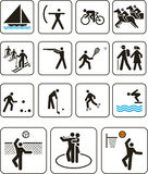 Olympische de spelentekens van sporten Royalty-vrije Stock Foto's