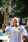 Olympische de toortsagent van 2012 Stock Foto's