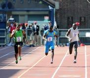 Olympische Entwicklung 100 Metergedankenstrich Penn Relais Stockbilder