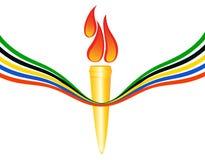Olympische Fackel Stockfotos