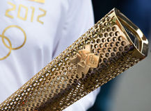 Olympische Fackel London 2012 Lizenzfreie Stockfotografie