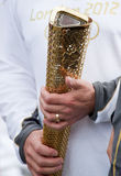 Olympische Fackel London 2012 Lizenzfreie Stockfotos