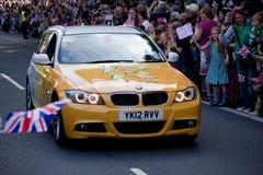 Olympische Fackel London 2012 Stockfoto