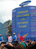 Olympische Fackel in London. Stockfotografie