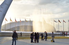 Olympische Fackel in Sochi, Russland Stockfoto