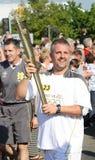 Olympische Fackel-Stütze London-2012 Stockfotos
