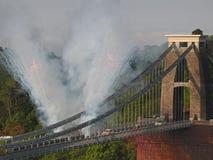 Olympische Feuerwerke Stockbild