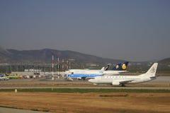 Olympische Fluglinien Stockbild