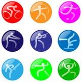 Olympische Gebieden Royalty-vrije Stock Foto's